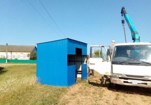 В с. Вояды Янаульского района установили остановочный павильон